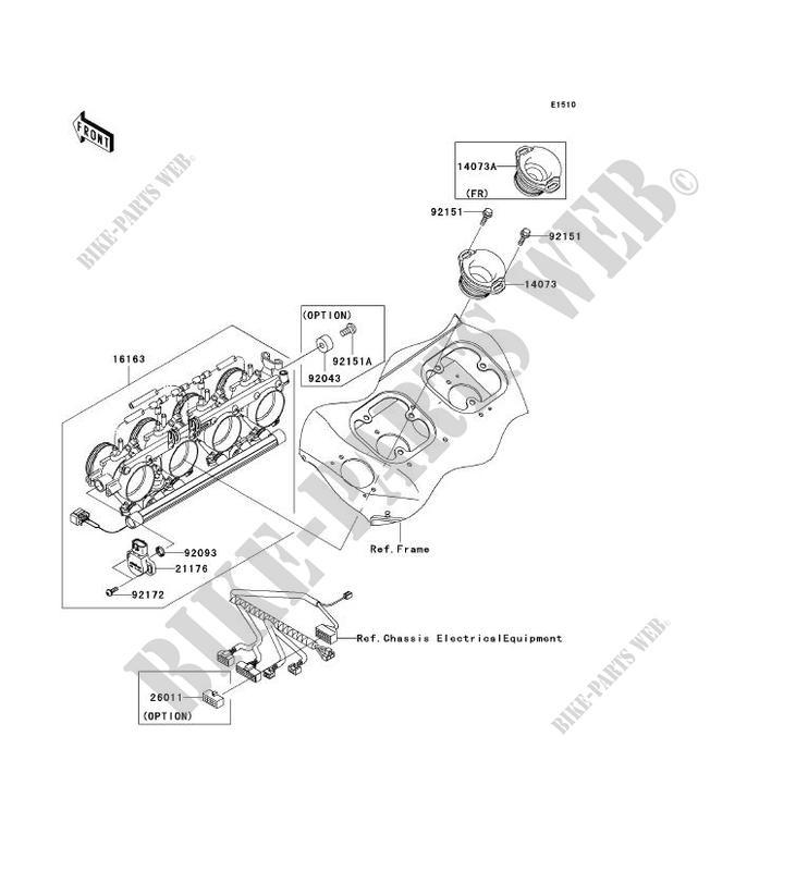 CARBU ZX1200 A1H NINJA ZX 12R 2000 1200 MOTOS Kawasaki