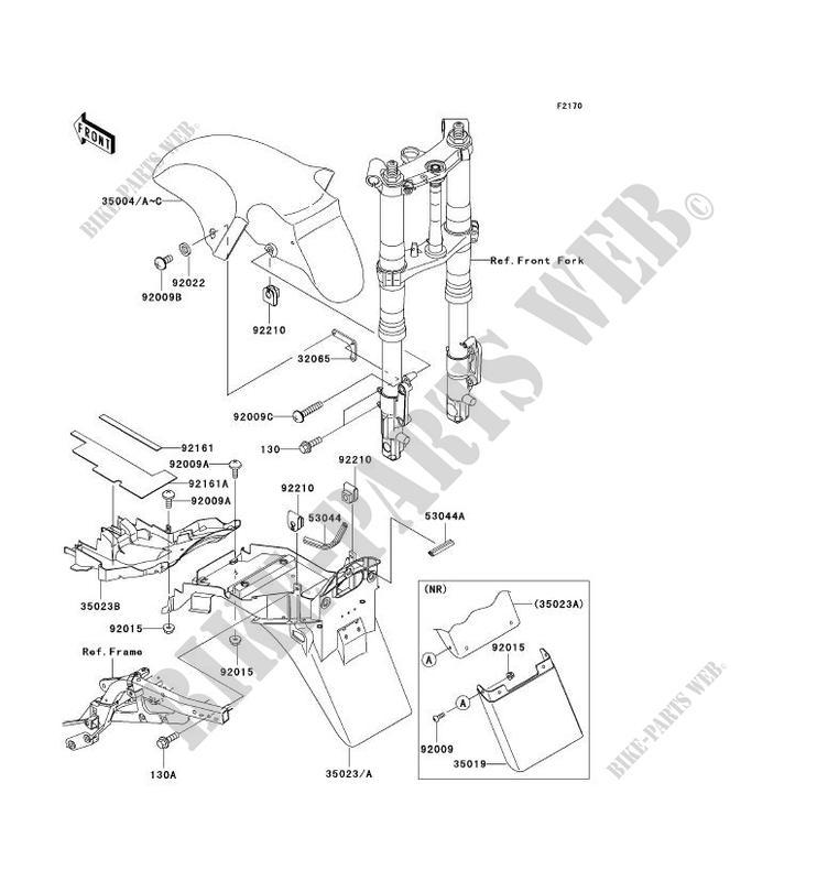 GARDE BOUE ZX1200 A1H NINJA ZX 12R 2000 1200 MOTOS