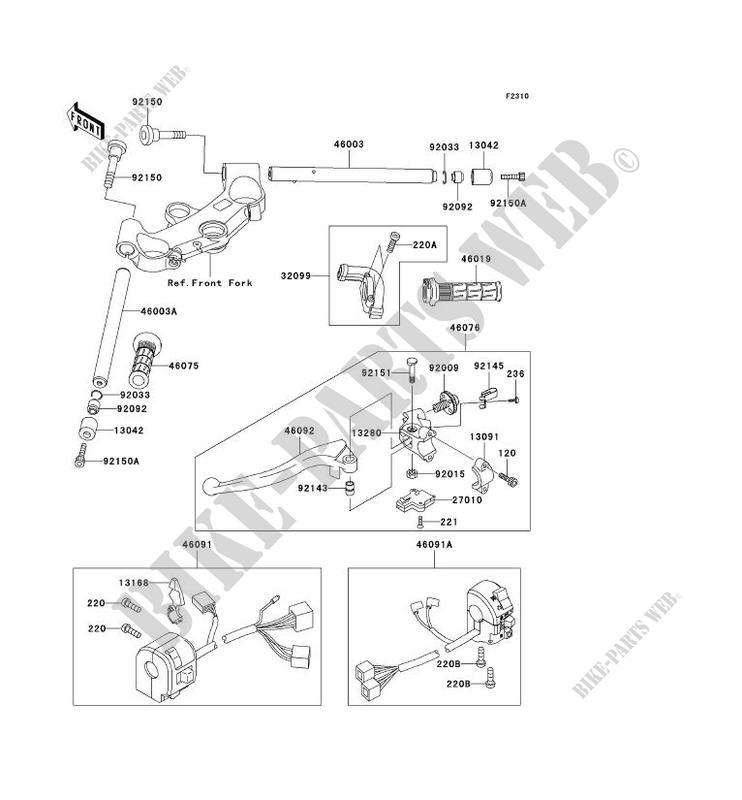 GUIDON ZX1200 A1H NINJA ZX 12R 2000 1200 MOTOS Kawasaki