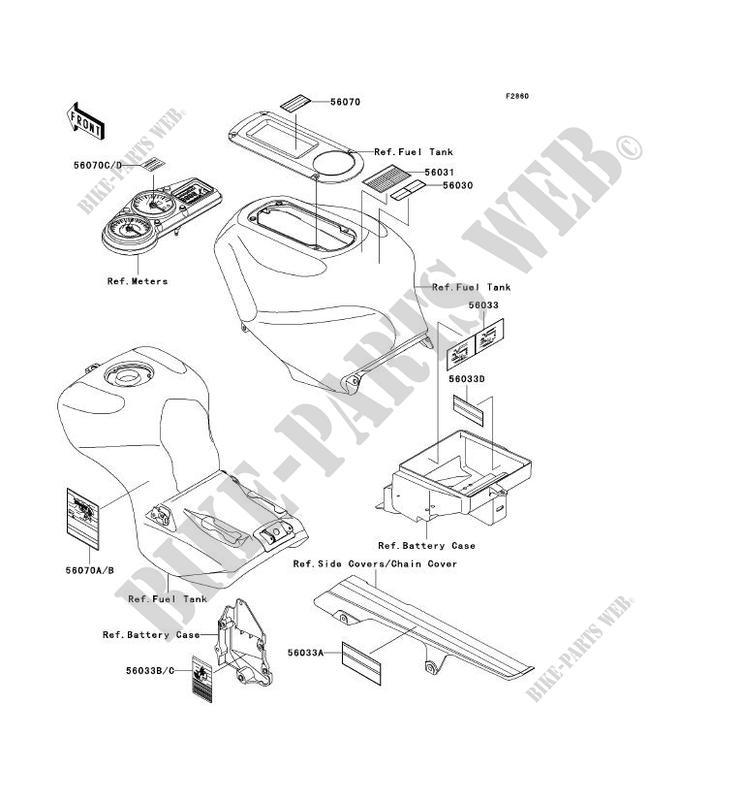 LABEL ZX1200 A2H NINJA ZX 12R 2001 1200 MOTOS Kawasaki