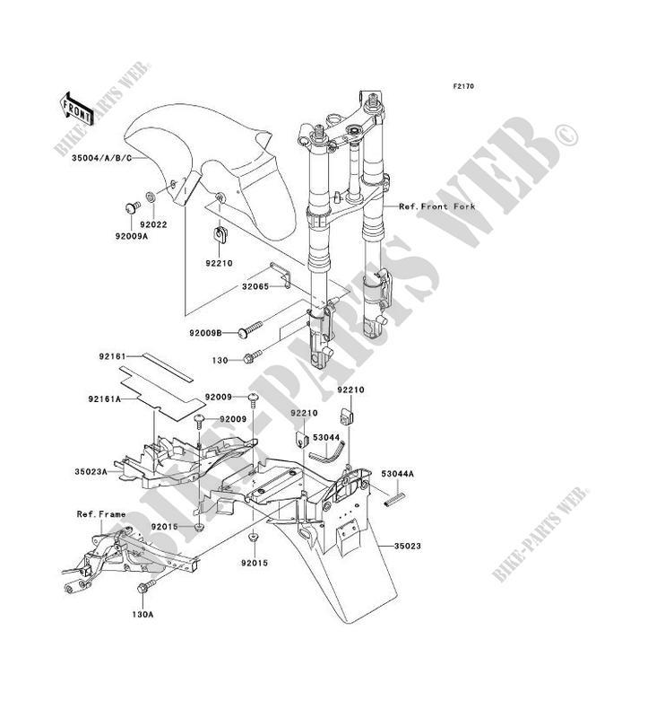 GARDE BOUE ZX1200 A2H NINJA ZX 12R 2001 1200 MOTOS