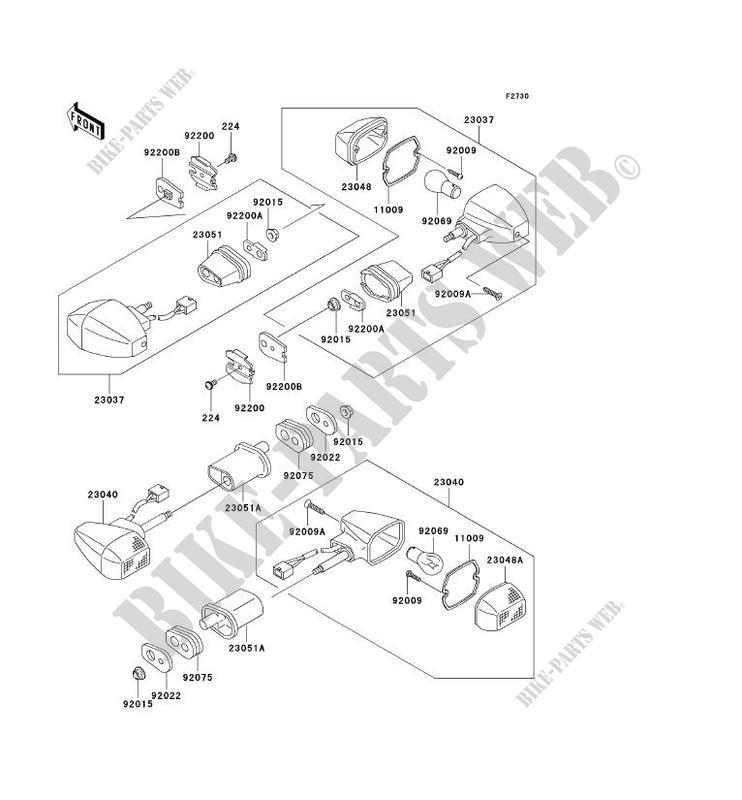 CLIGNOTANTS ZX1200 B1 NINJA ZX 12R 2002 1200 MOTOS