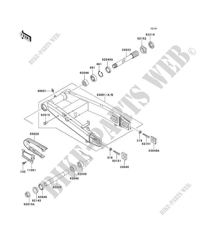 BRAS OSCILLANT ZX1200 B2H NINJA ZX 12R 2003 1200 MOTOS