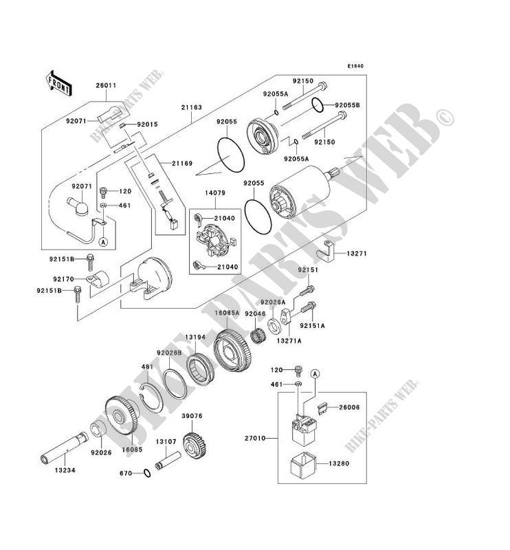DEMARREUR ZX1200 B2H NINJA ZX 12R 2003 1200 MOTOS Kawasaki