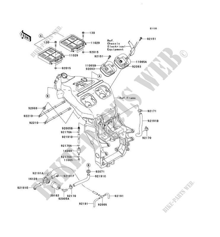 FILTRE A AIR ZX1200 B2H NINJA ZX 12R 2003 1200 MOTOS