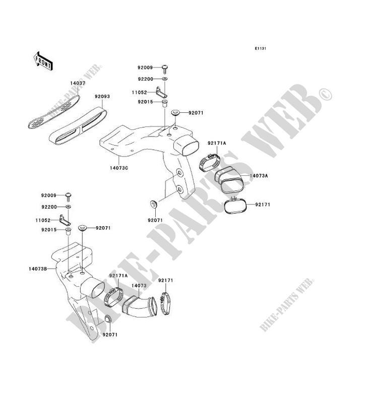 MANCHON ZX1200 B2H NINJA ZX 12R 2003 1200 MOTOS Kawasaki