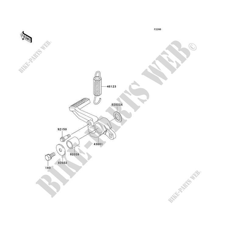 PEDALE DE FREIN ZX1200 B2H NINJA ZX 12R 2003 1200 MOTOS