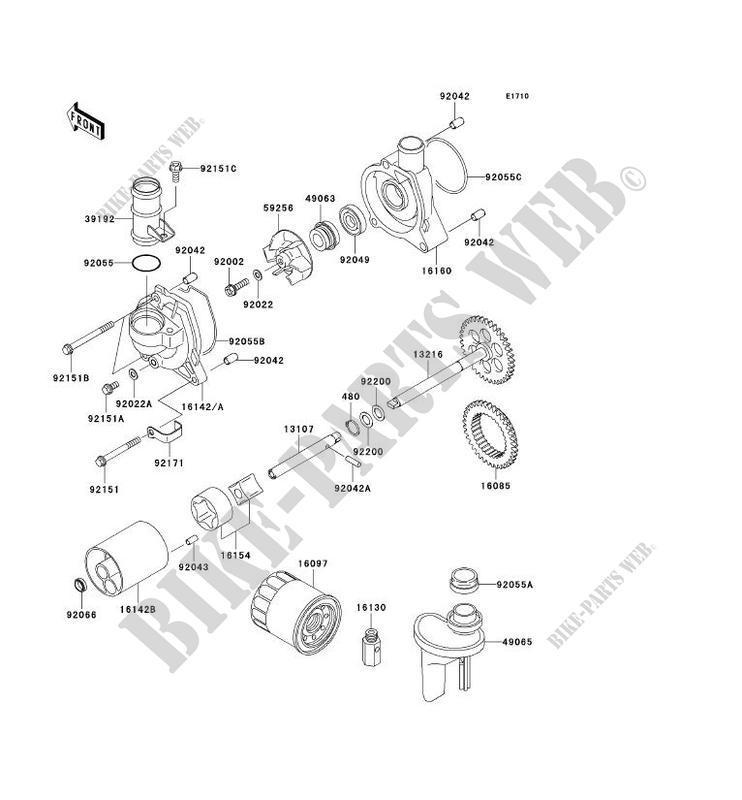 POMPE A HUILE ZX1200 B2H NINJA ZX 12R 2003 1200 MOTOS