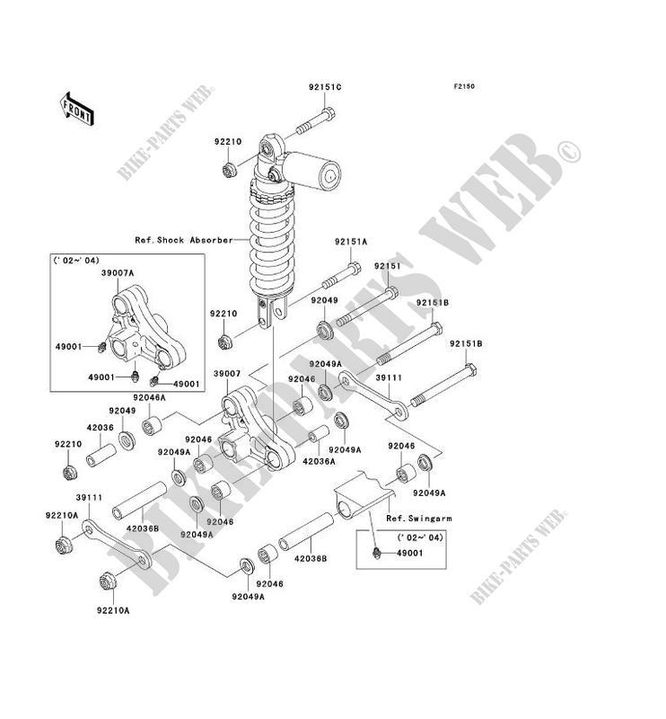 SUSPENSION ZX1200 B2H NINJA ZX 12R 2003 1200 MOTOS