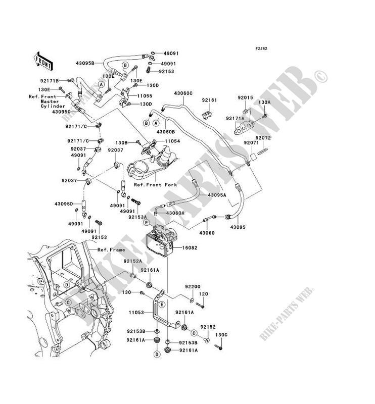 DURITE DE FREIN ZX1400D9F ZZR1400 ABS 2009 1400 MOTOS