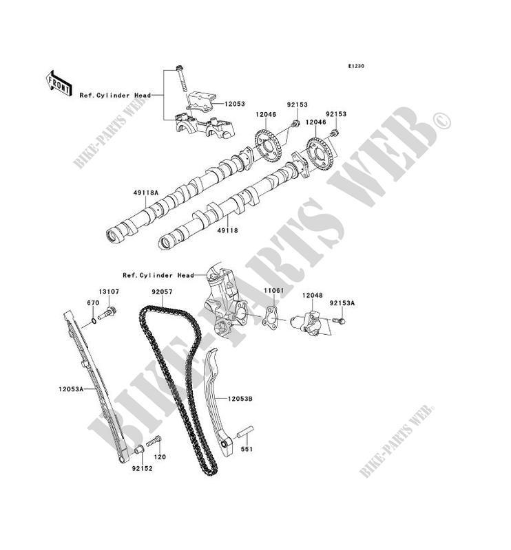 ARBRE A CAME TENDEUR ZX1400FCF ZZR1400 ABS 2012 1400 MOTOS