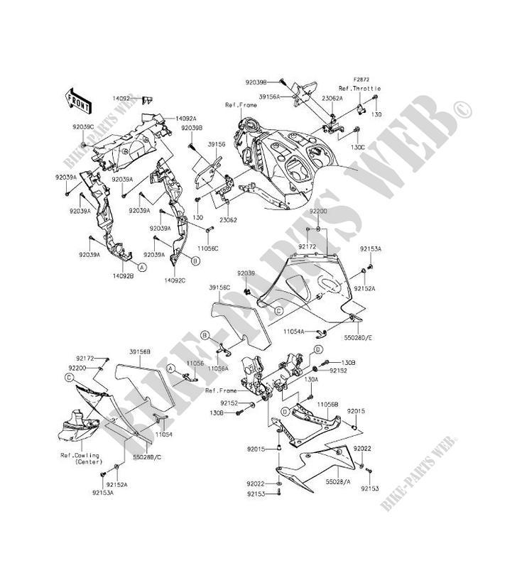 CARENAGE INFERIEUR ZX1400FFF ZZR1400 ABS 2015 1400 MOTOS