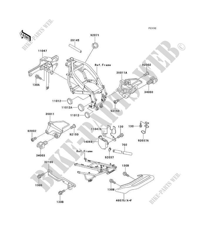 SUPPORT BATTERIE ZX600 D2 ZZR600 1991 600 MOTOS Kawasaki