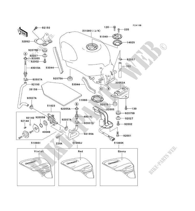 RESERVOIR CARBURANT ZX600 E3 ZZR600 1995 600 MOTOS