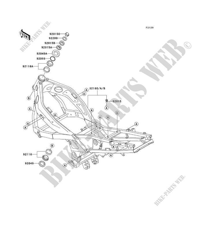 CHASSIS ZX600 E3 ZZR600 1995 600 MOTOS Kawasaki moto