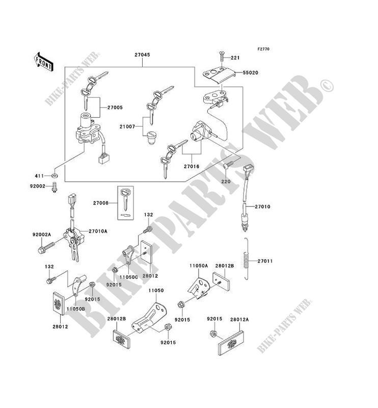 CONTACTEUR SERRURE/RÉFLECTEUR pour Kawasaki NINJA ZX-6R