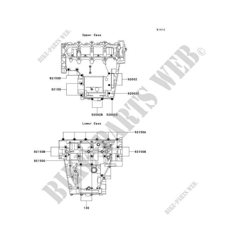 BOULON CARTER MOTEUR ZX600 J1P NINJA ZX 6R 2000 600 MOTOS