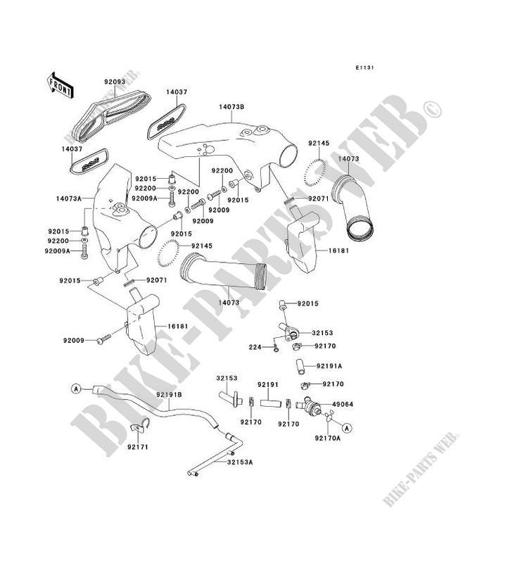 MANCHON pour Kawasaki NINJA ZX-6R 2000 # KAWASAKI