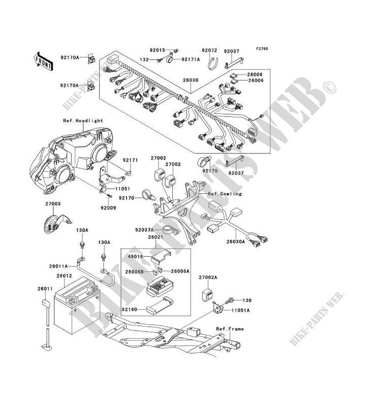 CHASSIS EQUIPMENT ELECTRIQUE pour Kawasaki NINJA ZX-6R