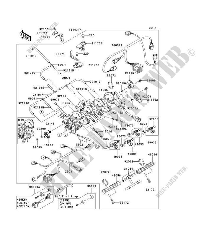 CARBU pour Kawasaki NINJA ZX-6RR 2004 # KAWASAKI