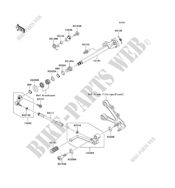 SELECTEUR ZX600P8F NINJA ZX 6R 2008 600 MOTOS Kawasaki