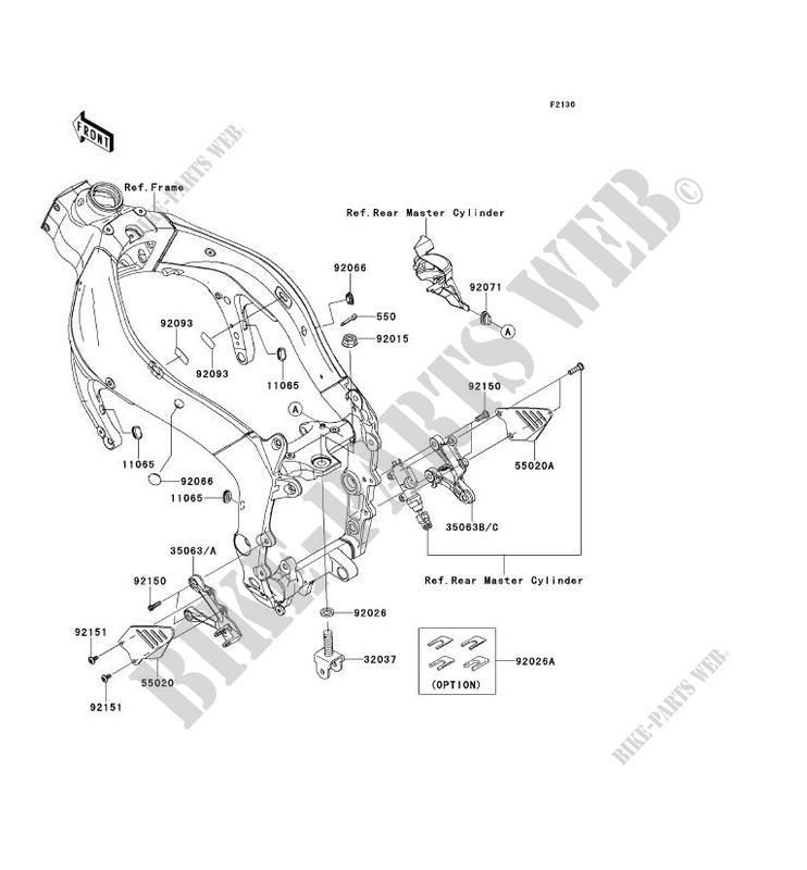 PIECE DE CADRE AVANT ZX600R9F NINJA ZX 6R 2009 600 MOTOS