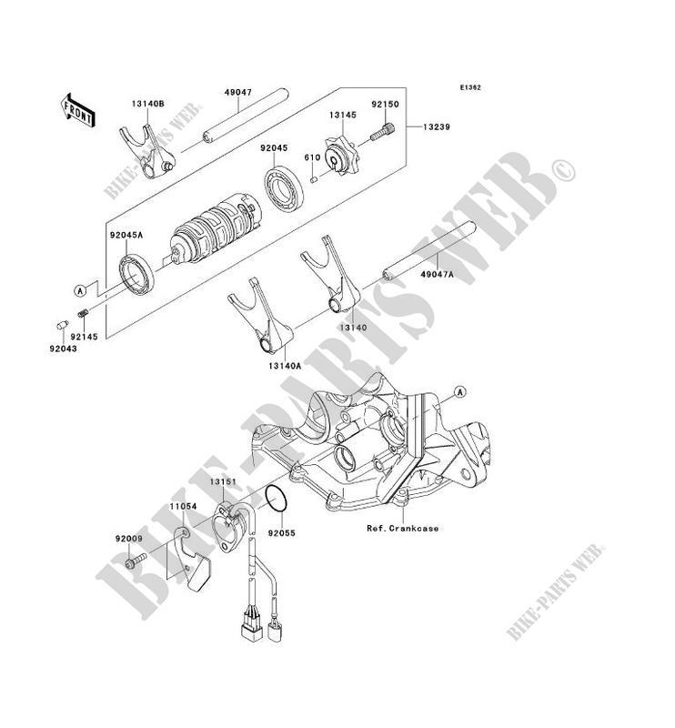 FOURCHETTE BARRILLET DE SELECTION ZX600RAF NINJA ZX 6R
