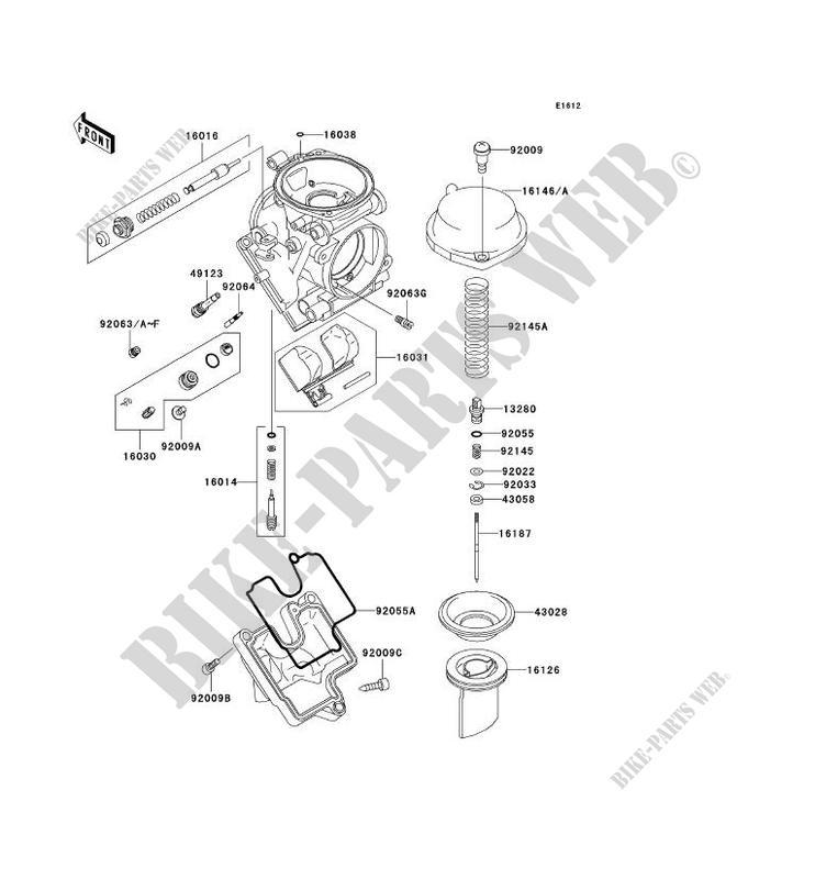 PIÈCES DE CARBURATEUR pour Kawasaki NINJA ZX-6R 2002
