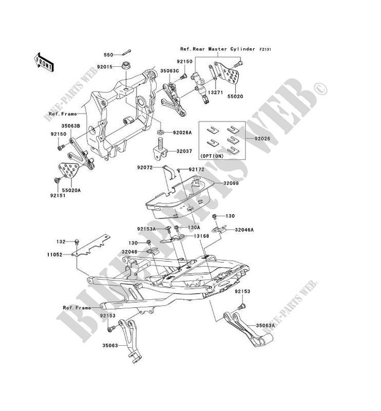 PIECE DE CADRE (COUVERTURE) pour Kawasaki NINJA ZX-6R 2003