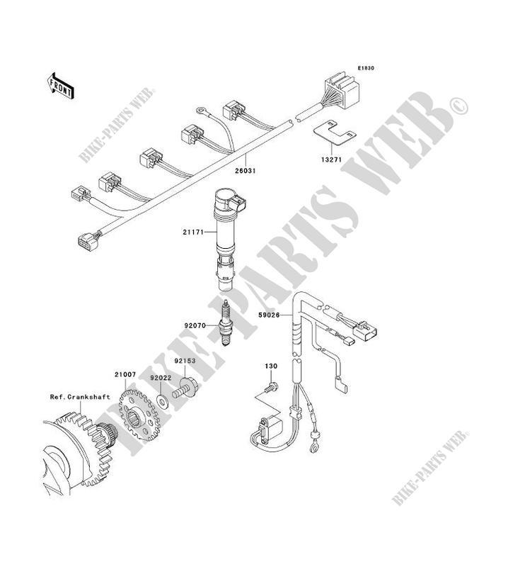 SYSTEME D´ALLUMAGE pour Kawasaki NINJA ZX-6R 2003