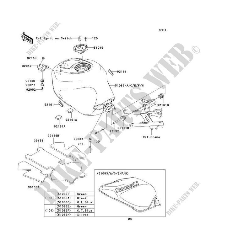 RESERVOIR CARBURANT pour Kawasaki NINJA ZX-6R 2003