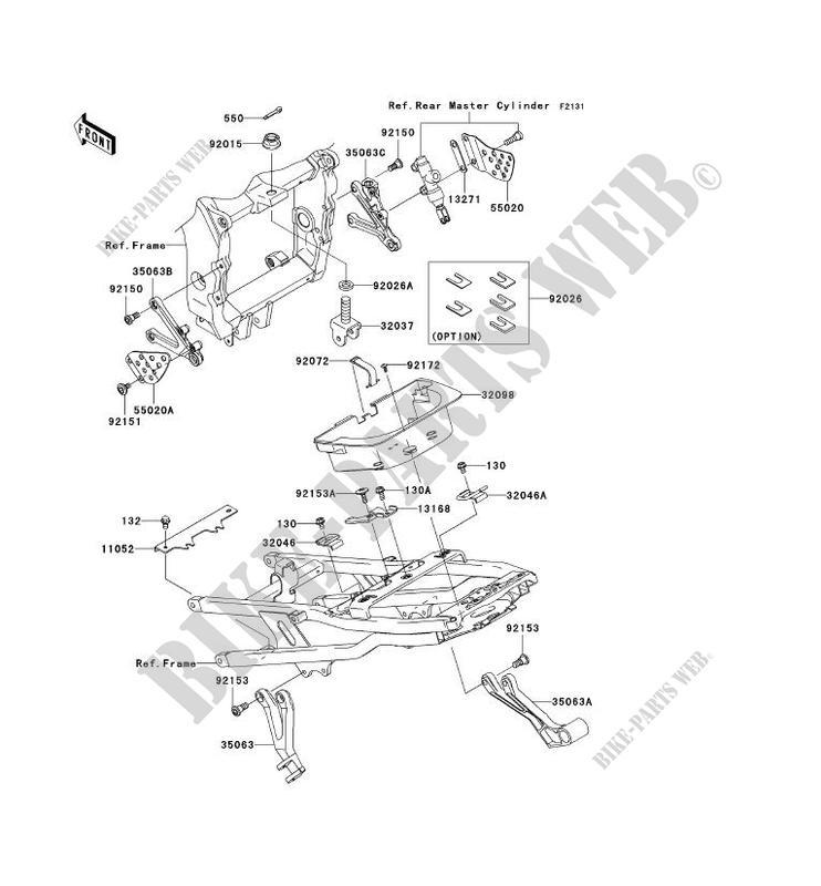 PIECE DE CADRE (COUVERTURE) pour Kawasaki NINJA ZX-6R 2004