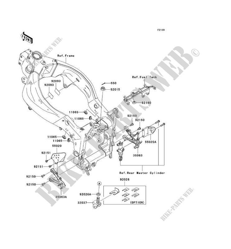 PIECE DE CADRE(AVANT) pour Kawasaki NINJA ZX-6R 2005