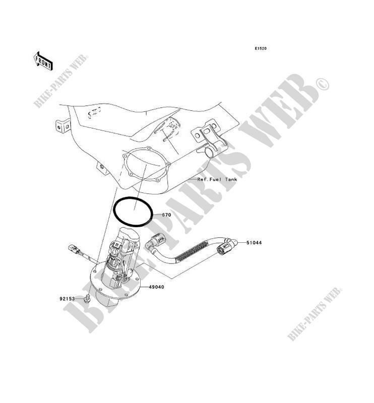 POMPE A ESSENCE pour Kawasaki NINJA ZX-6R 2005 # KAWASAKI