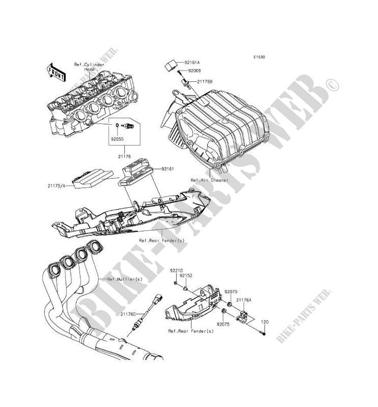 INJECTION CARBURANT ZX636EFF NINJA ZX 6R 2015 636 MOTOS