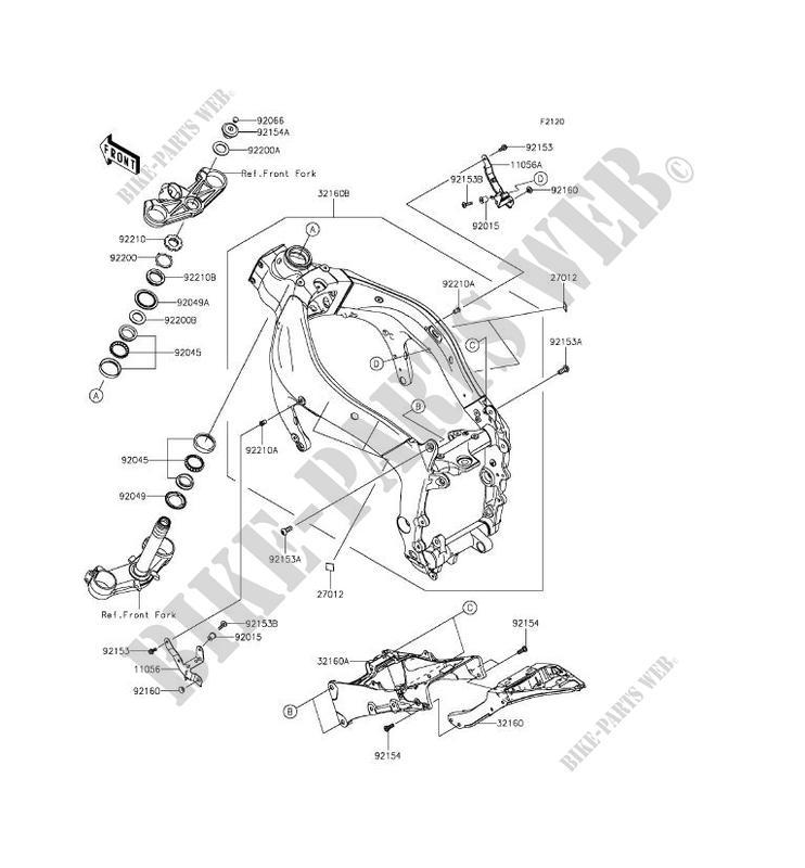 CHASSIS ZX636EFFA NINJA ZX 6R 2015 636 MOTOS Kawasaki moto