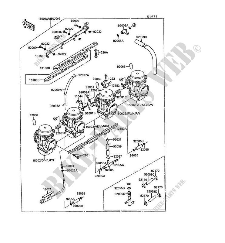 CARBURATEUR pour Kawasaki GPX750R 1989 # KAWASAKI