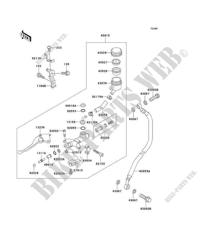 EMBRAYAGE MAITRE CYLINDRE pour Kawasaki NINJA ZX-7R 1996