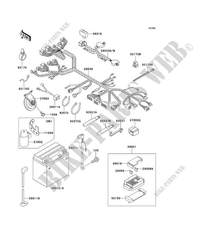 CHASSIS EQUIPMENT ELECTRIQUE ZX750 P3 NINJA ZX 7R 1998 750