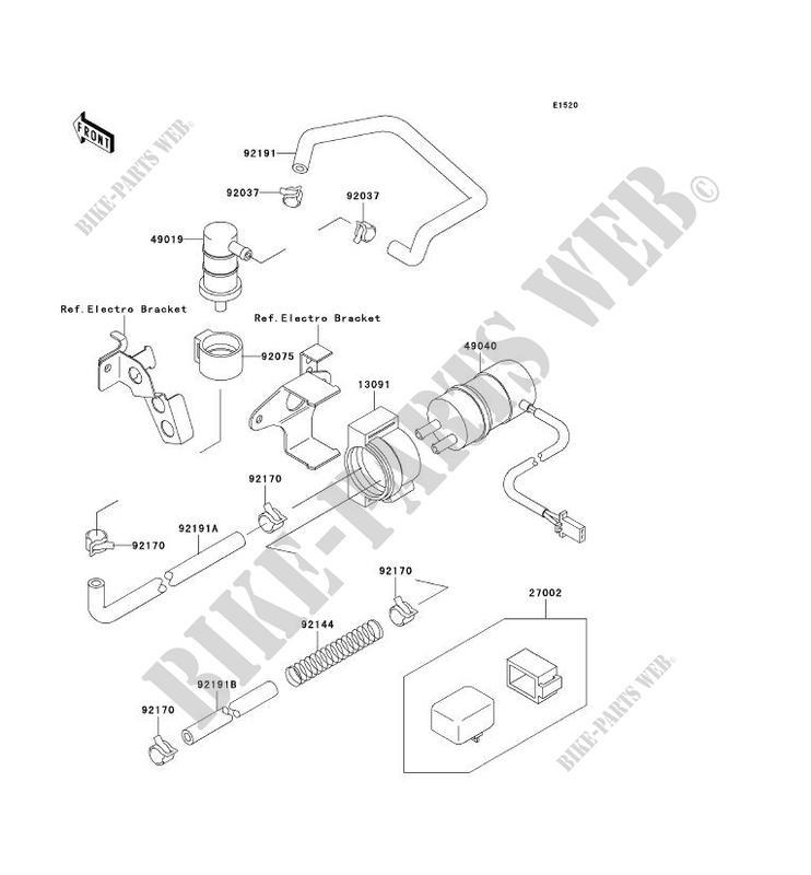 POMPE A ESSENCE ZX750 P3 NINJA ZX 7R 1998 750 MOTOS