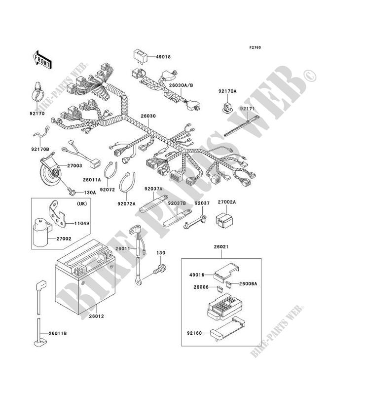 CHASSIS EQUIPMENT ELECTRIQUE pour Kawasaki NINJA ZX-7R