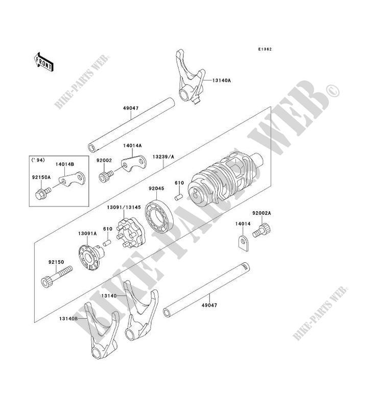 FOURCHETTE BARRILLET DE SELECTION ZX900 B3 NINJA ZX 9R