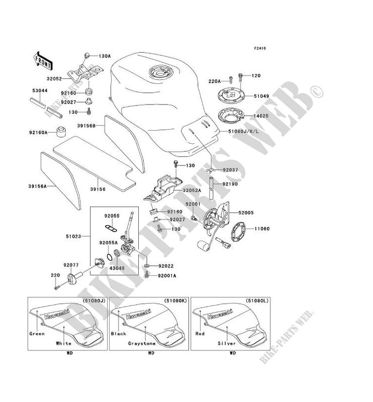 RESERVOIR CARBURANT ZX900 B4 NINJA ZX 9R 1997 900 MOTOS