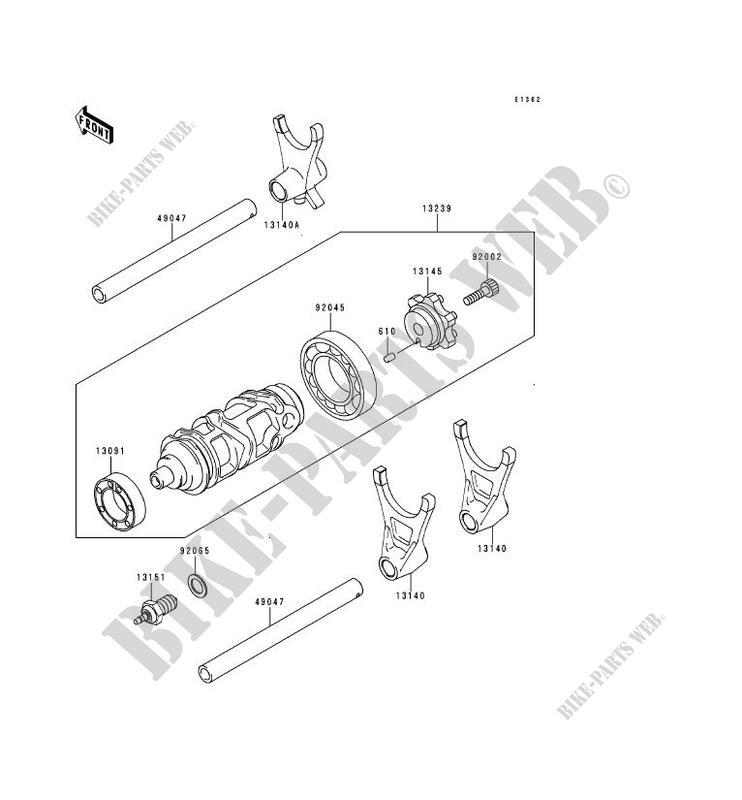 FOURCHETTE BARRILLET DE SELECTION ZX900 C1 NINJA ZX 9R
