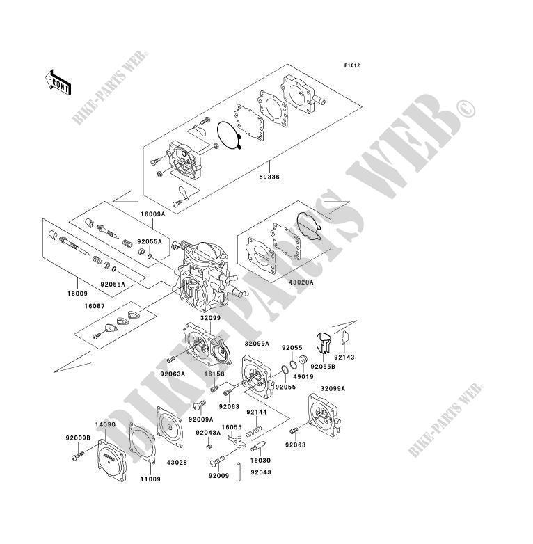 PIÈCES DE CARBURATEUR( JHT10AE006977) pour Kawasaki JET