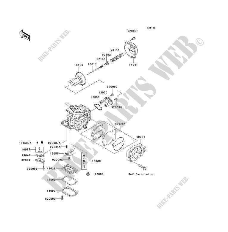 PIÈCES DE CARBURATEUR pour Kawasaki JET SKI 1100 ZXI 1998