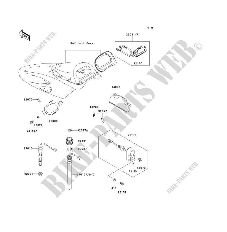 COMPTEURS pour Kawasaki JET SKI ULTRA 150 2001 # KAWASAKI