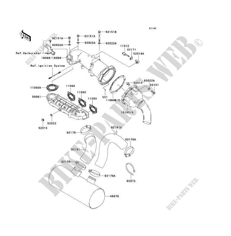 ECHAPPEMENT JH1200 A3 JET SKI ULTRA 150 2001 1200 JET SKI