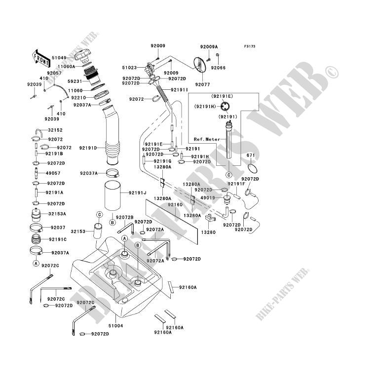 RESERVOIR CARBURANT pour Kawasaki JET SKI ULTRA 150 2003