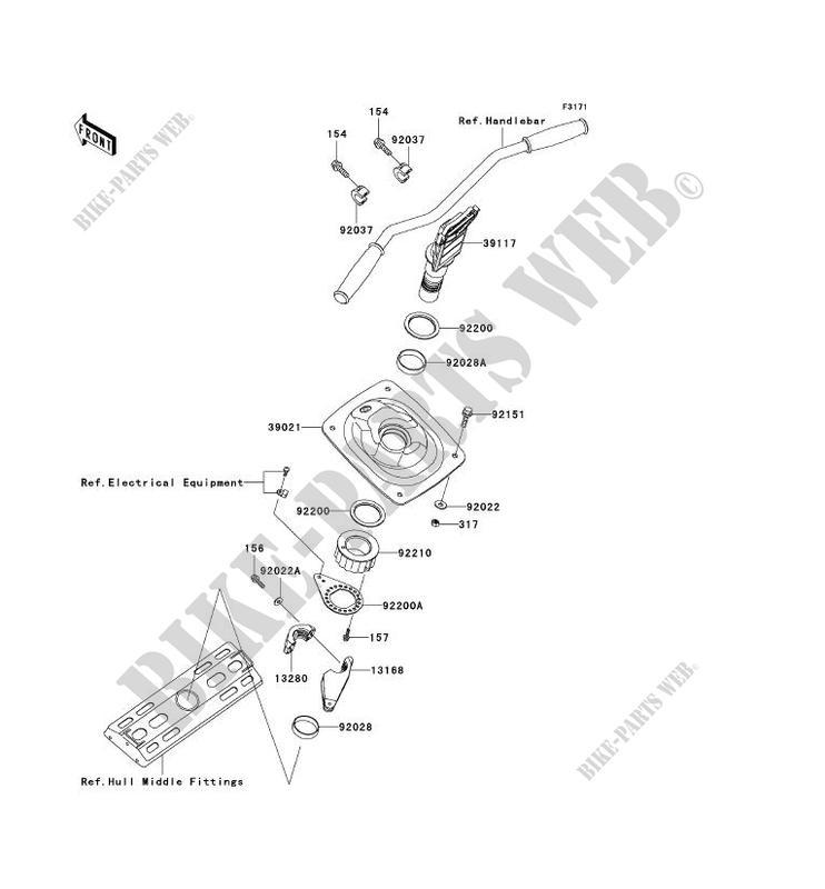 POIGNEE POLE pour Kawasaki JET SKI ULTRA 150 2003